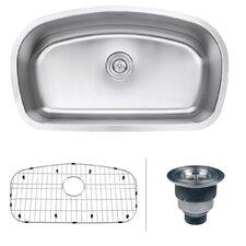 """Parmi 32.5"""" x 18.66"""" Undermount 16 Gauge Single Bowl Kitchen Sink"""