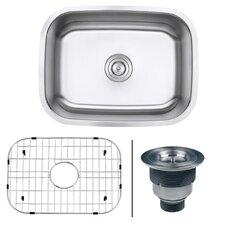 """Parmi 23.38"""" x 17.25"""" Undermount 16 Gauge Single Bowl Kitchen Sink"""