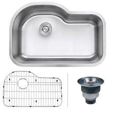"""Parmi 31.5"""" x 21.13"""" Undermount 16 Gauge Single Bowl Kitchen Sink"""