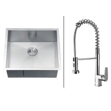 "23"" x 20"" Kitchen Sink with Faucet"
