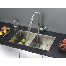 """32"""" x 19"""" Kitchen Sink with Faucet"""
