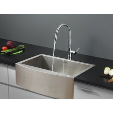 "30"" x 21"" Kitchen Sink with Faucet"