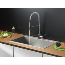 "33"" x 21"" Kitchen Sink with Faucet"