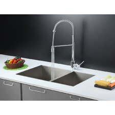 """32"""" x 20"""" Kitchen Sink with Faucet"""