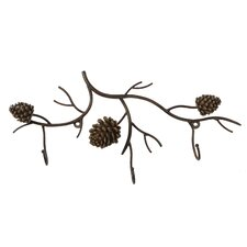 Woodland River Pinecone Wall Hook