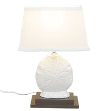 "Dollar Ceramic 15"" H Table Lamp with Oval Shade"