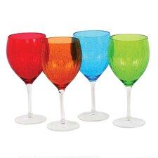 Balloon 4 Piece Wine Glass Set (Set of 4)