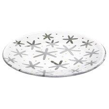 "Glimmering Snowflake 13"" Platter"