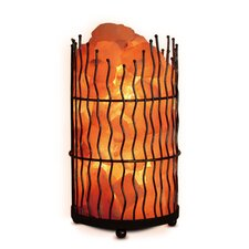 "Himalayan Pillar 10.43"" H Table Lamp with Drum Shade"