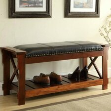 Wood Storage Entryway Bench
