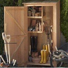 Western Red Cedar 3ft. X2 ft. D Hardwood Doweling Garden Storage Shed