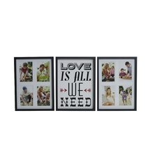 'Love Is All We Need' Collage Frame Set (Set of 3)