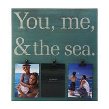 3-Opening 'You Me and The Sea' Sentiment Clip Collage Frame