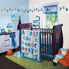Alpha Baby 4 Piece Crib Bedding Set