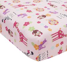 Jelly Bean Jungle Crib Fitted Sheet