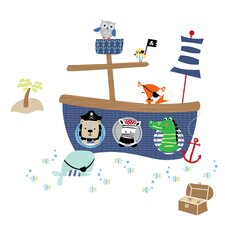 Little Pirates Wall Decal