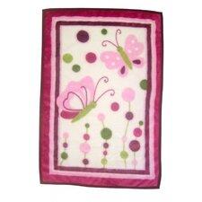 Raspberry Swirl 4 Pack Flannel Blanket (Set of 4)