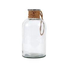 Decorative Glass Bottle with Hemp Rope Handle