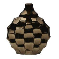 Metallic Bronze Ceramic Rippled Vase