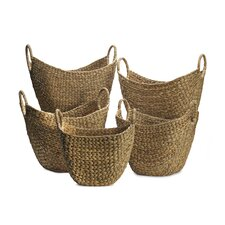 5 Piece Tapered Woven Basket Set