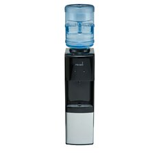 Top Loading Hot and Cold Free-Standing Water Dispenser in Black and Stainless