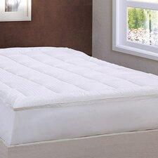 Damask Stripe Pillow Top Mattress Pad