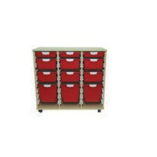 12 Tray Wood Cabinet