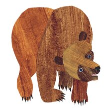 Brown Bear Character Front Cover Painting Print on Wrapped Canvas