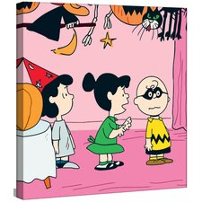 """Charlie Brown Costume"" Peanuts by Charles M. Shultz Graphic Art on Canvas"