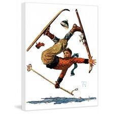 Wipeout on Skis by Eugene Iverd Painting Print on Canvas