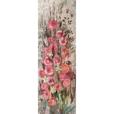 Floral Frenzy Pink IV Painting Print on Wrapped Canvas