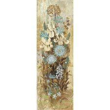 Floral Frenzy Blue II Painting Print on Wrapped Canvas