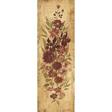Floral Frenzy Burgundy II Painting Print on Wrapped Canvas