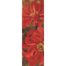 Floral Frenzy Red I Painting Print on Wrapped Canvas