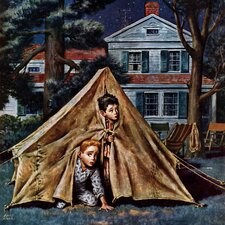 Backyard Campers by Amos Sewell Painting Print on Wrapped Canvas