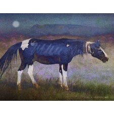 Black Horse by Chris Vest Painting Print on Wrapped Canvas