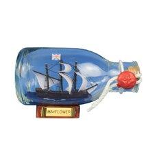 """Mayflower 5"""" Model Ship in a Glass Bottle"""