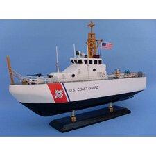 "16"" Wooden United States Coast Guard Coastal Patrol Model Boat"