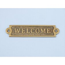 "6"" Chrome Welcome Sign Wall Décor"
