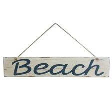 "14"" Wooden Rustic Beach Sign Wall Décor"