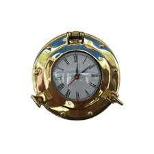 "Deluxe Class 8"" Porthole Wall Clock"