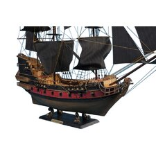 """Black Bart's Royal Fortune 36"""" Limited Model Pirate Ship with Black Sails"""