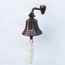 Antiqued Copper Hanging Ships Bell