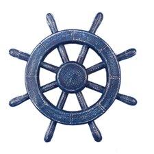 """Ship 12"""" Decorative Ship Wheel Wall Décor"""