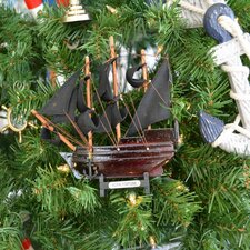 Bart's Royal Fortune Black Wooden Christmas Tree Ornament