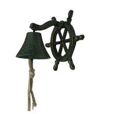 Hanging Ship Wheel Bell Wall Décor