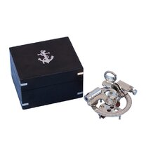 Chrome Round Sextant with Black Rosewood Box