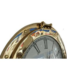 Deluxe Class Porthole 12'' Clock