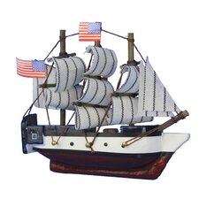 USS Constitution Tall Magnet Model Ship Wall Decor
