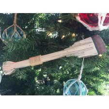 Wooden Decorative Squared Rowing Boat Oar Christmas Ornament
